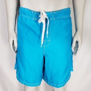 OP Mens Teal Blue Swim Trunks Size XL 40-42